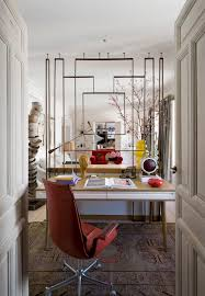 deco office. Breathtaking Art Deco Home Design With Small Office Image