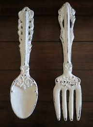 Large Fork And Spoon Wall Decor Fork And Spoon Etsy