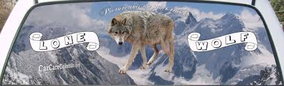 grey wolf size lone grey wolf rear window graphic