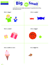 Comparing Big And Small Lesson Plan Education Com
