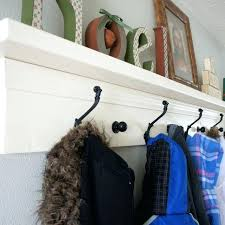 Entryway Wall Mounted Coat Rack Wall Coat Rack With Shelf White Shelf Wall Coat Rack For Entryway 43