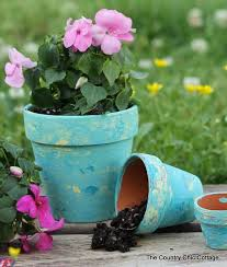 diy country crafts rustic terra cotta pots
