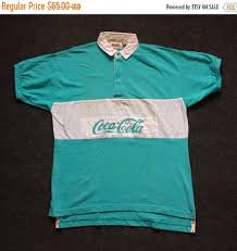 on 26 vintage e coca cola rugby 80s 90s short sleeve m shirt