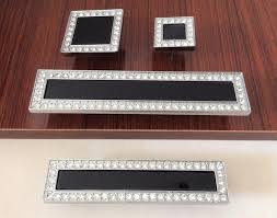 black glass cabinet pulls. Black Crystal Dresser Knobs Luxury Drawer Handles / Square Glass Cabinet Handle Knob Kitchen Cupboard Pulls S