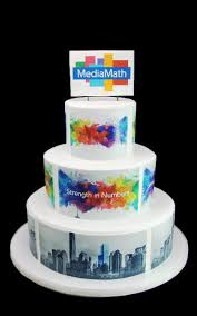 Media Math Corporate Logo Cake Butterfly Bake Shop In New York