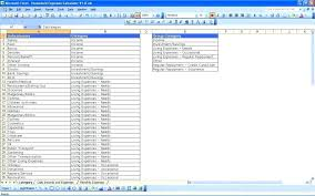 Daily Monthly Yearly Budget Spreadsheet Excel Sheet Personal