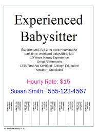 Find Babysitting Jobs In Your Area How To Be The Best Nanny Have You Ever Hung Up Flyers To