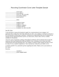 Cover Letter Design Example Sample Cover Letter For Recruiter