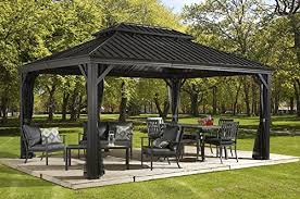 gazebo pictures in backyard. Delighful Gazebo This Hard Top Gazebo Boasts A Generous 12u0027x16u0027 Size Ideal For Backyard Get  Togethers Or Just Keeping The Family Cool And Shaded With Gazebo Pictures In Backyard I