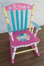 painted kids furniture. Hand Painted Whimsical Personalized Child Rocking Chair By Hughese, $215.00 Kids Furniture