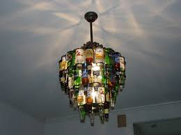 beer bottle chandelier bedroom