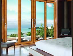interesting wood sliding patio doors