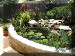 how to build a water garden water feature to match retaining wall