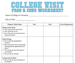 college selection spreadsheet college visit checklist worksheet familyeducation