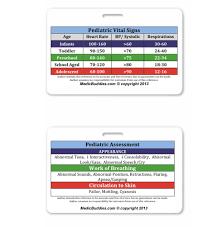 Pediatric Vitals Pediatric Vital Signs Badge Medicbuddies Com