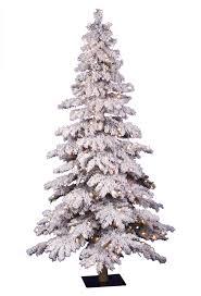 Flocked Christmas Tree 4 Ft Flocked Spruce Christmas Tree Christmas Tree Market