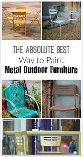 best paint for outdoor furnitureThe Best Way To Paint Metal Outdoor Furniture  Metal furniture