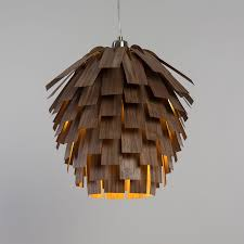 lighting wood. Pine Cone Inspired Lamp Lighting Wood