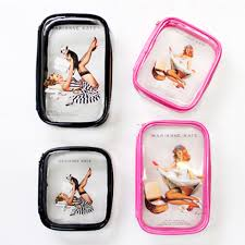 pin up cosmetic bags pin up cosmetic bags pinup clear makeup bag cute and simple clear makeup bag by marianne