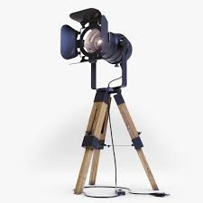 Projector Tripod Floor Lamp 3d Cgtrader