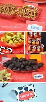 Firefighter Cupcake Decorations Emma Rameys Firetruck 3rd Birthday Party Lamberts Lately A