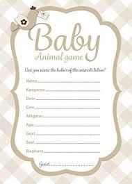 Party Spiel Für Baby Shower Namen Das Baby Tiere 16 Spiel Karten