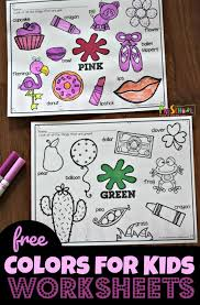 Spring worksheets and printable coloring pages for young learners. Free Color Worksheets For Kids