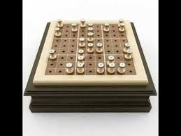 Wooden Sudoku Game Board 100D Model Wooden Sudoku Board Game YouTube 30
