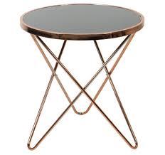 carafa regular round table copper black