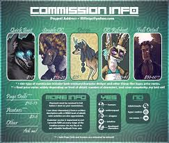 commission sheet commission price sheet outdated by riftmaw on deviantart