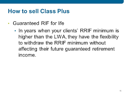 Rrif Minimum Payment Chart Registered Trademark Of The Empire Life Insurance Company