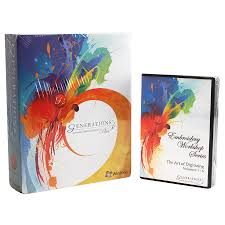 Ez Design Software Embroidery Generations Plus Embroidery Software Suite With Art Of