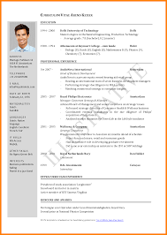 Template Cv And Resume Format Pdf Best Download Template Word Free