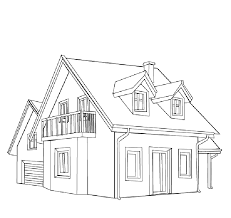 Small Picture coloring pages houses house in the village in houses coloring page
