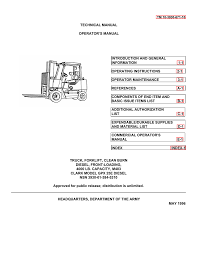 Forklift Dash Warning Lights Tm 10 3930 671 10 Liberated Manuals