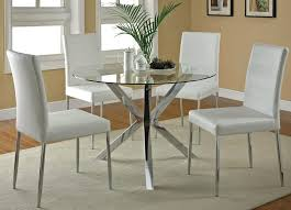 round glass top dining table set montclaire dining table42 round chic glass circular dining table