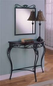 unique design mirrored table lamp set metal entryway table and mirror set crossgate