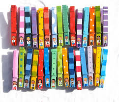 30 STUDENT CLOTHESPINS hand painted numbered classroom pegs. $72.00, via  Etsy.