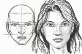 ic book video tutorials draw female face