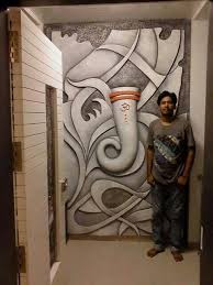 lord ganesha 3d wall projects to try building photos art murals doctors pictures on ganesh 3d wall art with pin by sivarama krishna on building photos pinterest ganesha