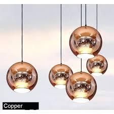 copper ceiling lights golden copper or sliver mirror chandelier style pendant ceiling lights glass ball lamp