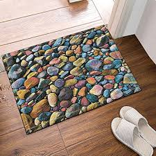 nymb stone pile from beach bath rugs non slip floor entryways outdoor indoor front door
