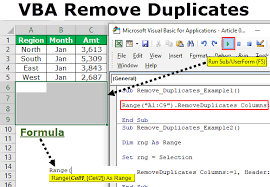 Vba Remove Duplicates How To Remove Duplicate Values In