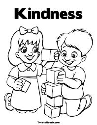 Small Picture Of Kindness Coloring Pages