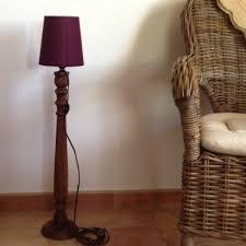 Oude Staande Lamp Met Houten Voet Provence Brocante Home Decor