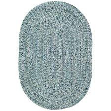small ocean blue oval braided indoor outdoor rug sea glass