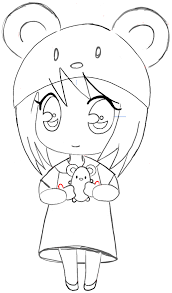 Small Picture How To Draw Chibi Easy 400x400 Girl Anime Manga Mouse Hatpng