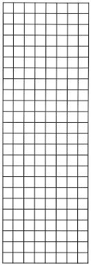 black wire gridwall panel horizontal