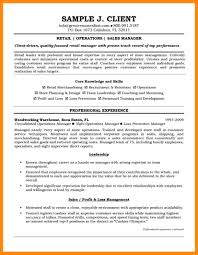 Template Retail General Manager Resume Template Store Job Examples