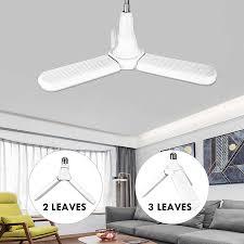 Bedroom Bright Lights B22 E27 Led Ceiling Lights Lamp Luminaire Foldable Fan Blade